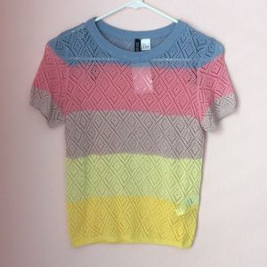 HM Divided Pointelle sweater
